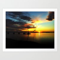 California Sunrise Art Print
