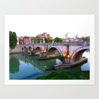 Ponte Sant'Angelo Art Print