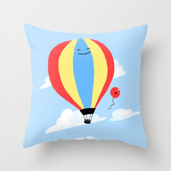 Balloon Buddies Throw Pillow