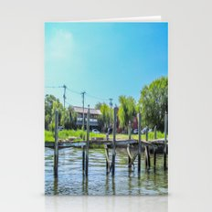 An Old Dock in the Historic Harbor Stationery Cards