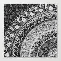 Ditsy Greyscale Canvas Print