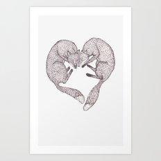 Fox Love Art Print