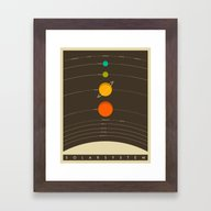 Framed Art Print featuring Solar System by Jazzberry Blue