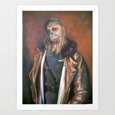 Lieutenant Chewie Art Print