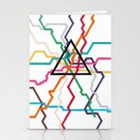 Angular Subway Stationery Cards