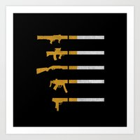 Lung Bullets Art Print