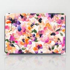 Chic Floral Pattern Pink Orange Pastel Watercolor iPad Case