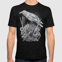 White Raven Mens Fitted Tee Tri-Black SMALL
