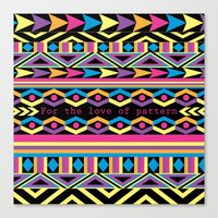 For The Love Of Pattern. Canvas Print