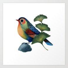 Ginkgo Bird Art Print