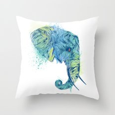 Elephant Head II Throw Pillow
