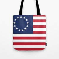 The Betsy Ross flag of the USA - Authentic version Tote Bag