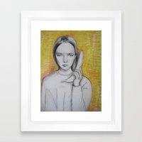 b-a-n-a-n-a-s  Framed Art Print