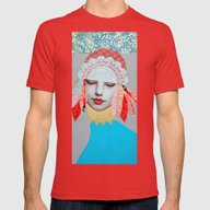Winter Queen Mens Fitted Tee Red SMALL