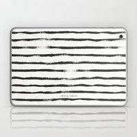 Thin Brush Stripe Black … Laptop & iPad Skin