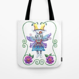 Tote Bag - Angel Kitty - Shelley Ylst Art