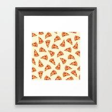 Pizza pattern  Framed Art Print