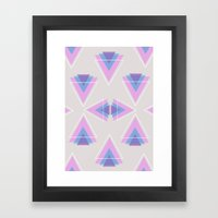 TRIANGLES IN COLOUR Framed Art Print