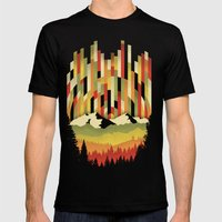 Sunset in Vertical Mens Fitted Tee Black SMALL