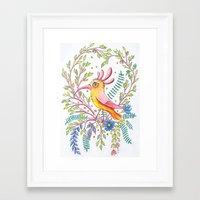 serious bird Framed Art Print