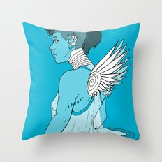 Angel Hawk Avenger Throw Pillow