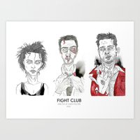 Fight Club - Triptych Art Print