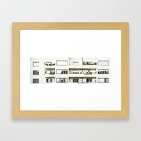 Looking at the neighbor. Framed Art Print