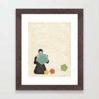 Discovering New Shapes Framed Art Print