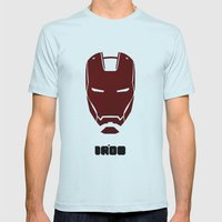 IRONMAN Mens Fitted Tee Light Blue SMALL