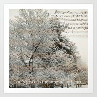 God's Grace Is The Song … Art Print