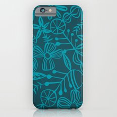 wild and natural - turquoise iPhone 6 Slim Case