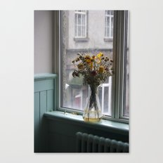The Scottish Vase Full Of Flowers Canvas Print