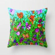 Wild Garden 2 Throw Pillow