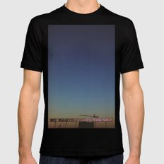 We wanted to be the sky Mens Fitted Tee Black SMALL