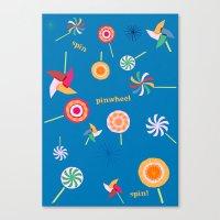 Spin! Pinwheel Spin! Canvas Print