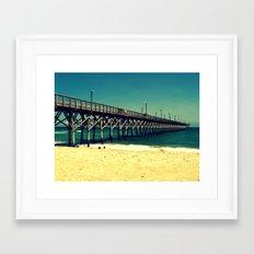 Surf City Pier Framed Art Print