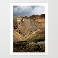 Mountains Of Iceland Art Print