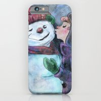 Kiss A Snowman iPhone 6 Slim Case