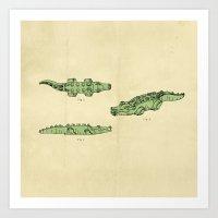 Lego Crocodile  Art Print