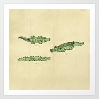 Lego Crocodile  Art Print