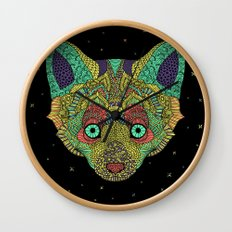 Intergalactic Fox Wall Clock
