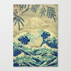 The Great Blue Embrace at Yama Canvas Print