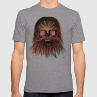 STAR WARS CHEWBACCA Mens Fitted Tee Athletic Grey SMALL