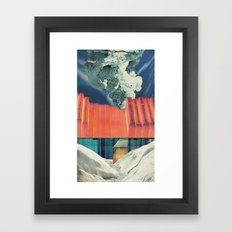 the melting wall (1) Framed Art Print