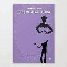 No661 My The Devil Wears minimal movie poster Canvas Print