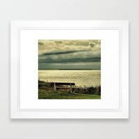 View to Lundy Framed Art Print