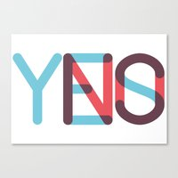 Yes/No Canvas Print