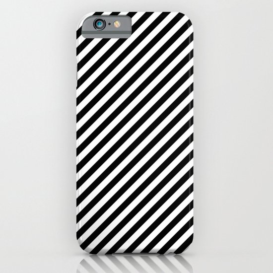 Classic Stripes Black + White iPhone & iPod Case