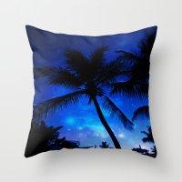 Cosmic Palms Throw Pillow