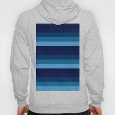 teal stripes Hoody